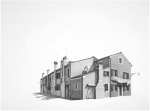 Fondamenta Pescheria, Burano, 2011 - Charcoal on paper 66 X 100 cm