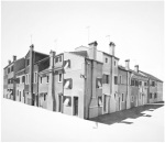 Corte Novello, Burano, 2011 - Charcoal on paper 96 X 96 cm